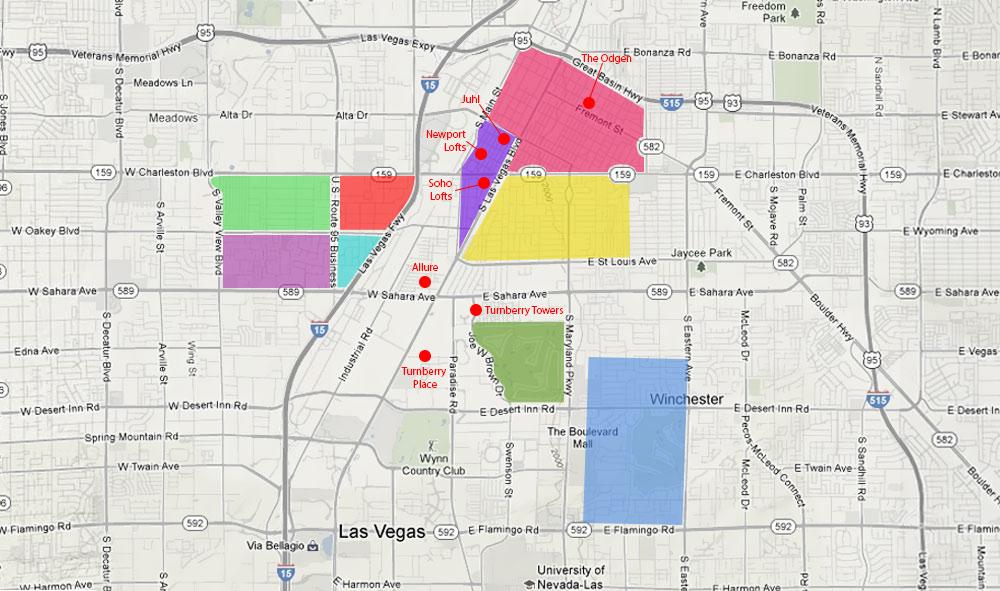 First Friday Las Vegas Map.Live Work Vegas